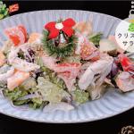 蒸し鶏のクリスマスサラダ
